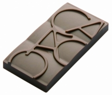Moule Chocolat Mini-Tablette Cacao - La Boutique du Pâtissier