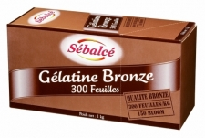 Feuille Gélatine Bronze 150 Bloom - La Boutique du Pâtissier